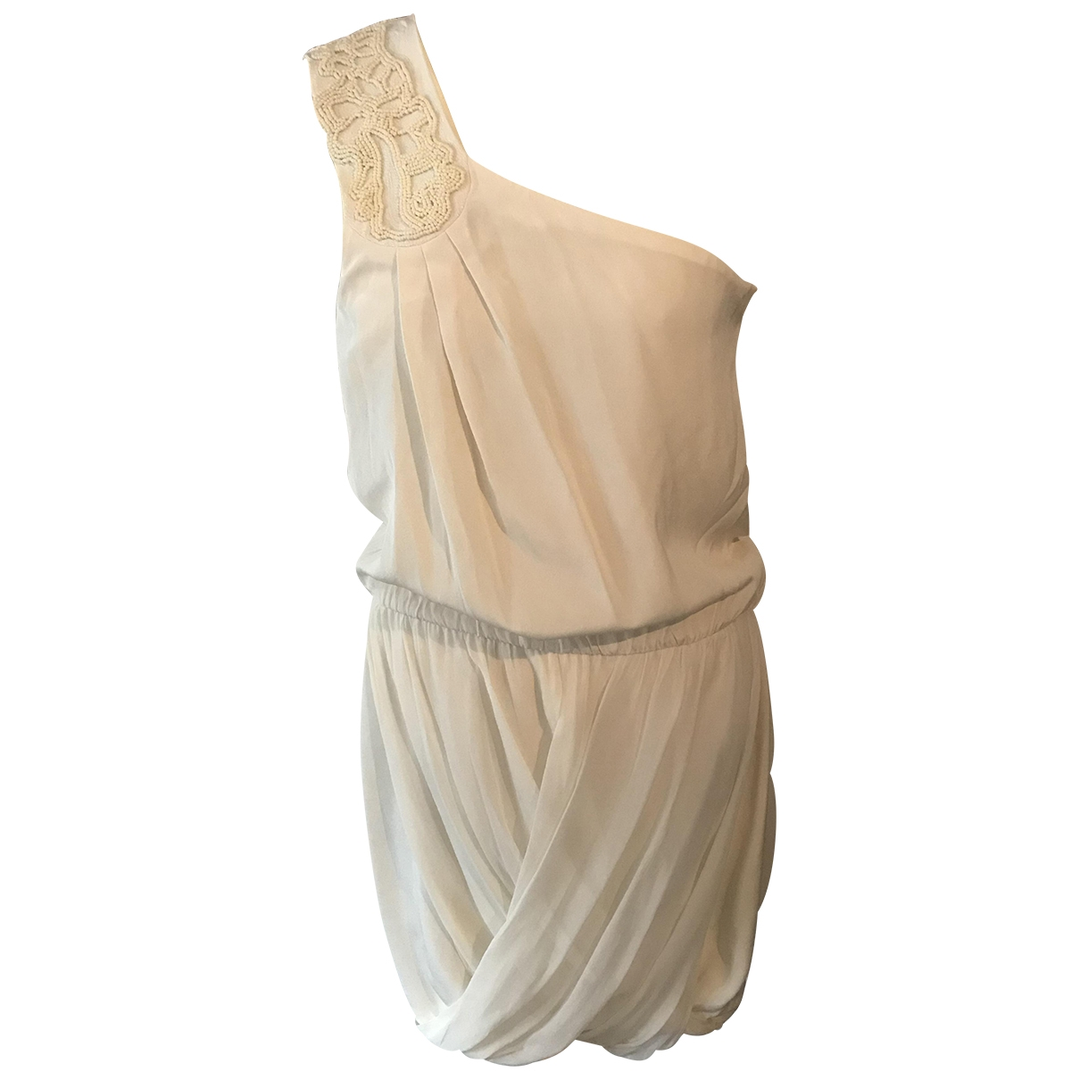 Tibi \N Kleid in  Beige Polyester