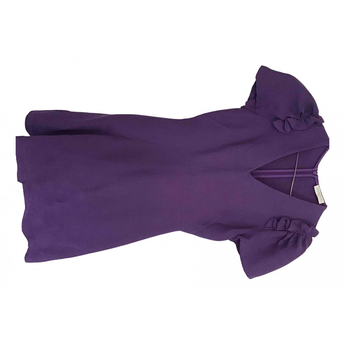 Sandro \N Kleid in  Lila Viskose