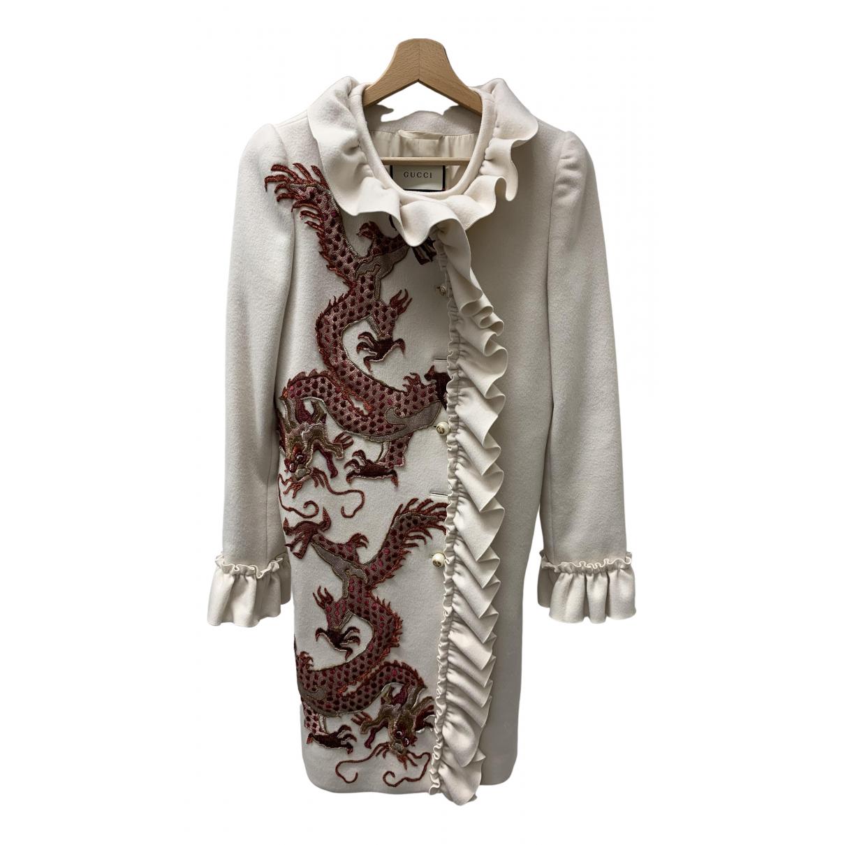 Gucci - Manteau   pour femme en laine - beige