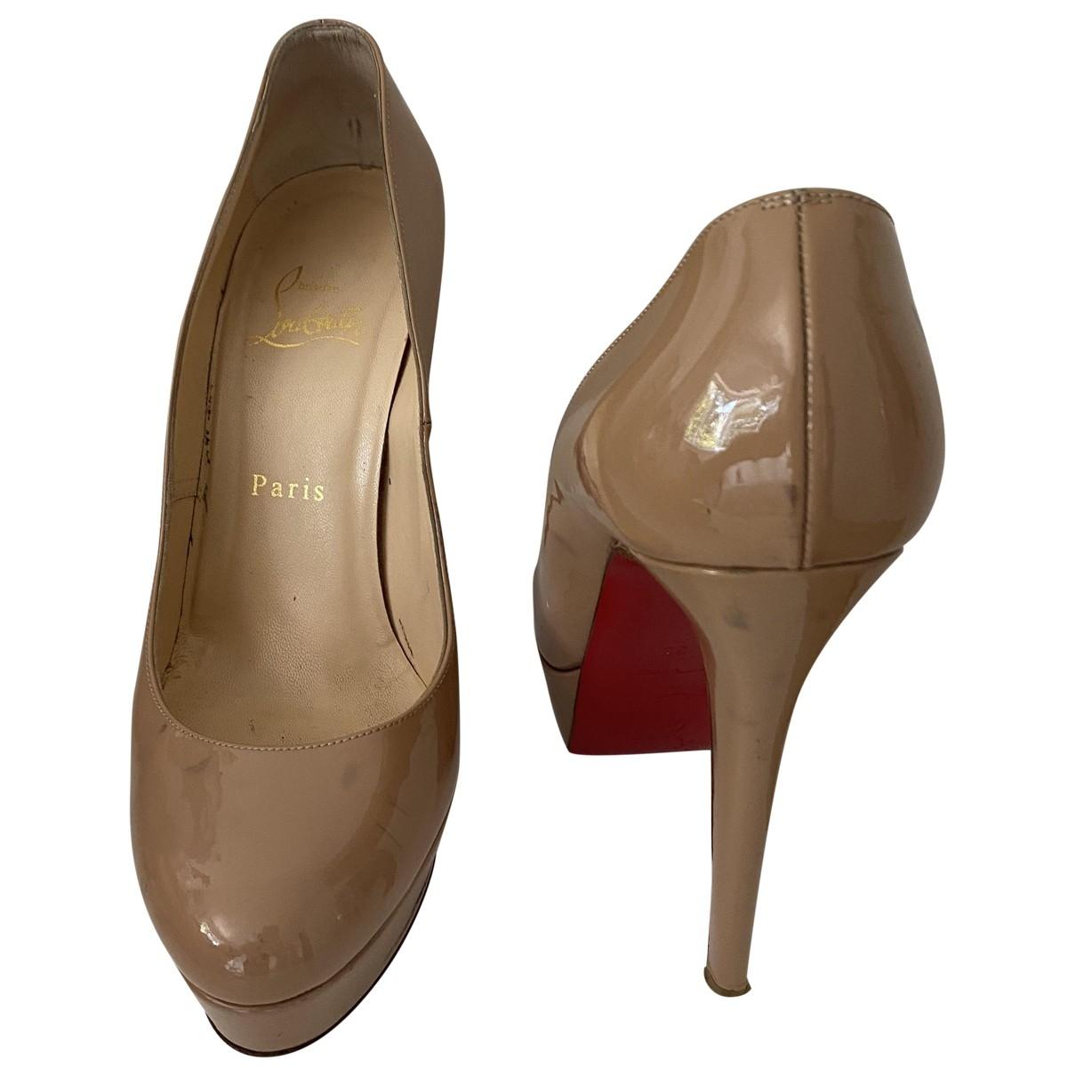 Christian Louboutin \N Beige Patent leather Heels for Women 38 EU