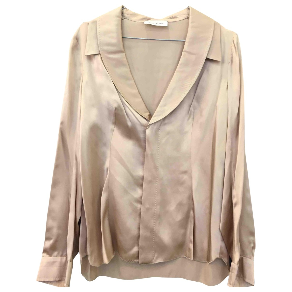Rochas \N Top in  Beige Seide