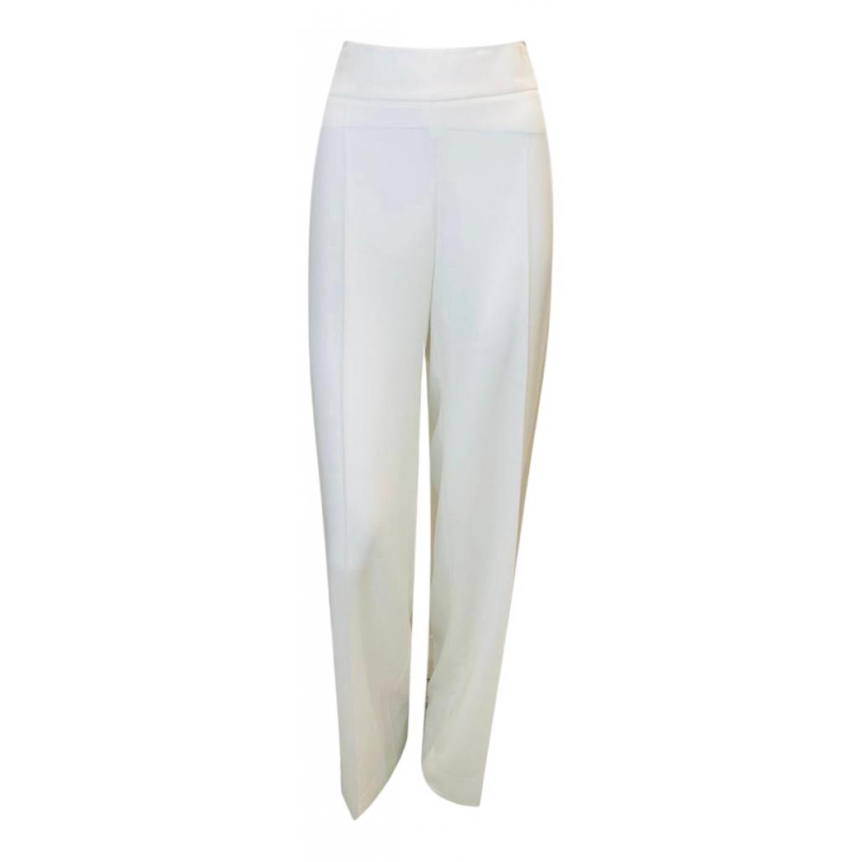 Pantalon en Poliester Blanco Armani Collezioni