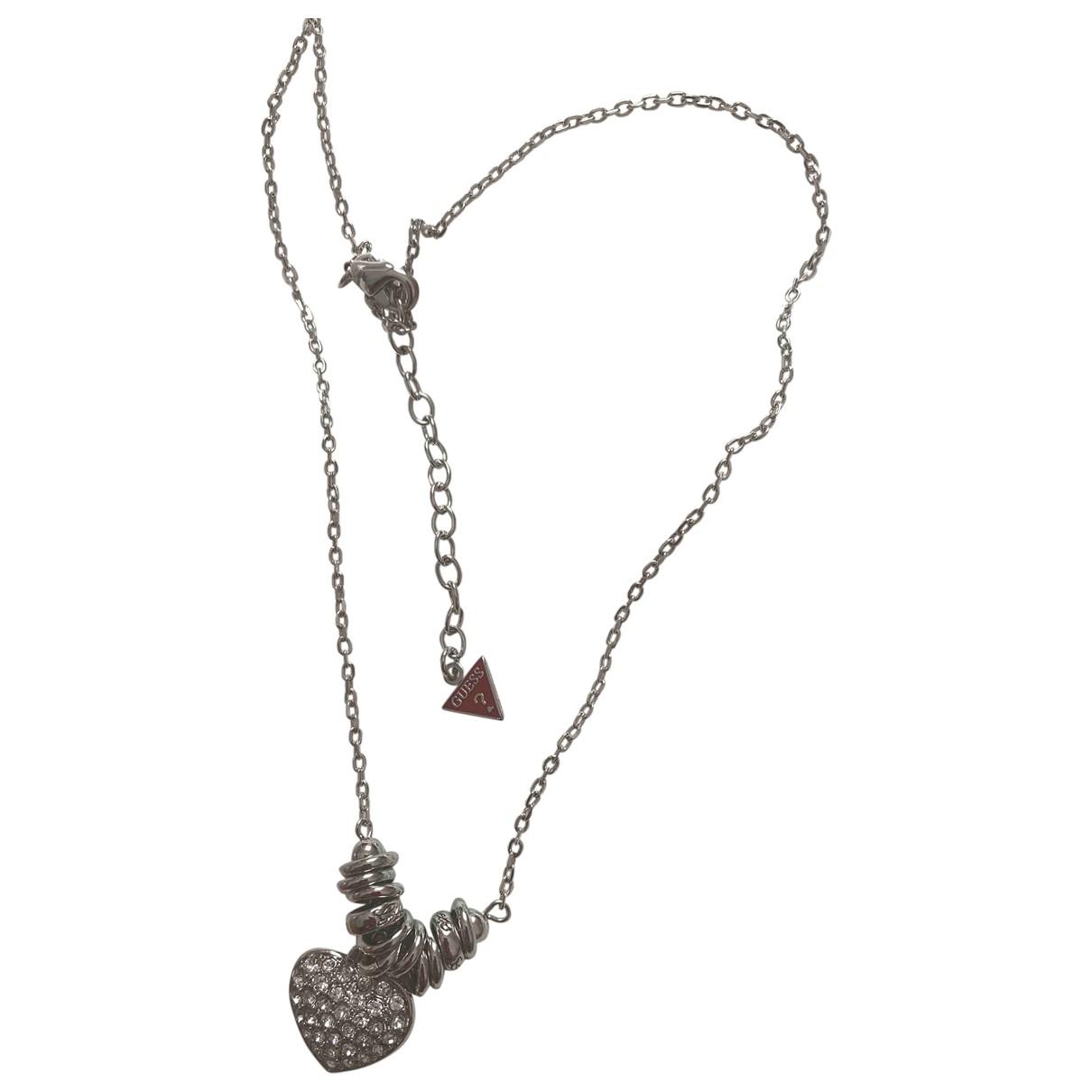Guess - Collier   pour femme en metal - argente