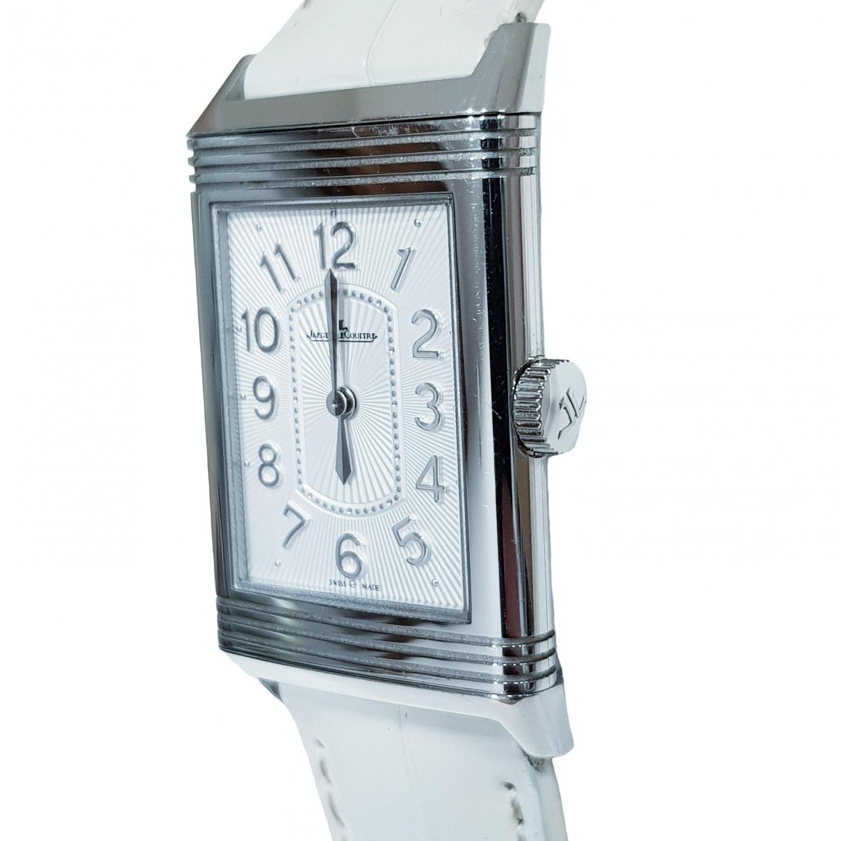 Jaeger-lecoultre - Montre Reverso pour femme en acier - blanc