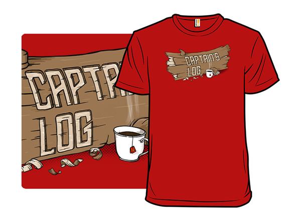 Captain's Log & Tea T Shirt