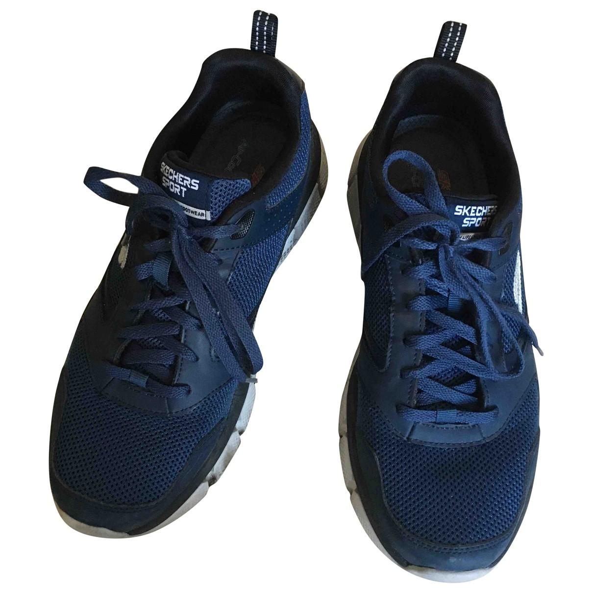 Skechers \N Sneakers in  Marine Leinen