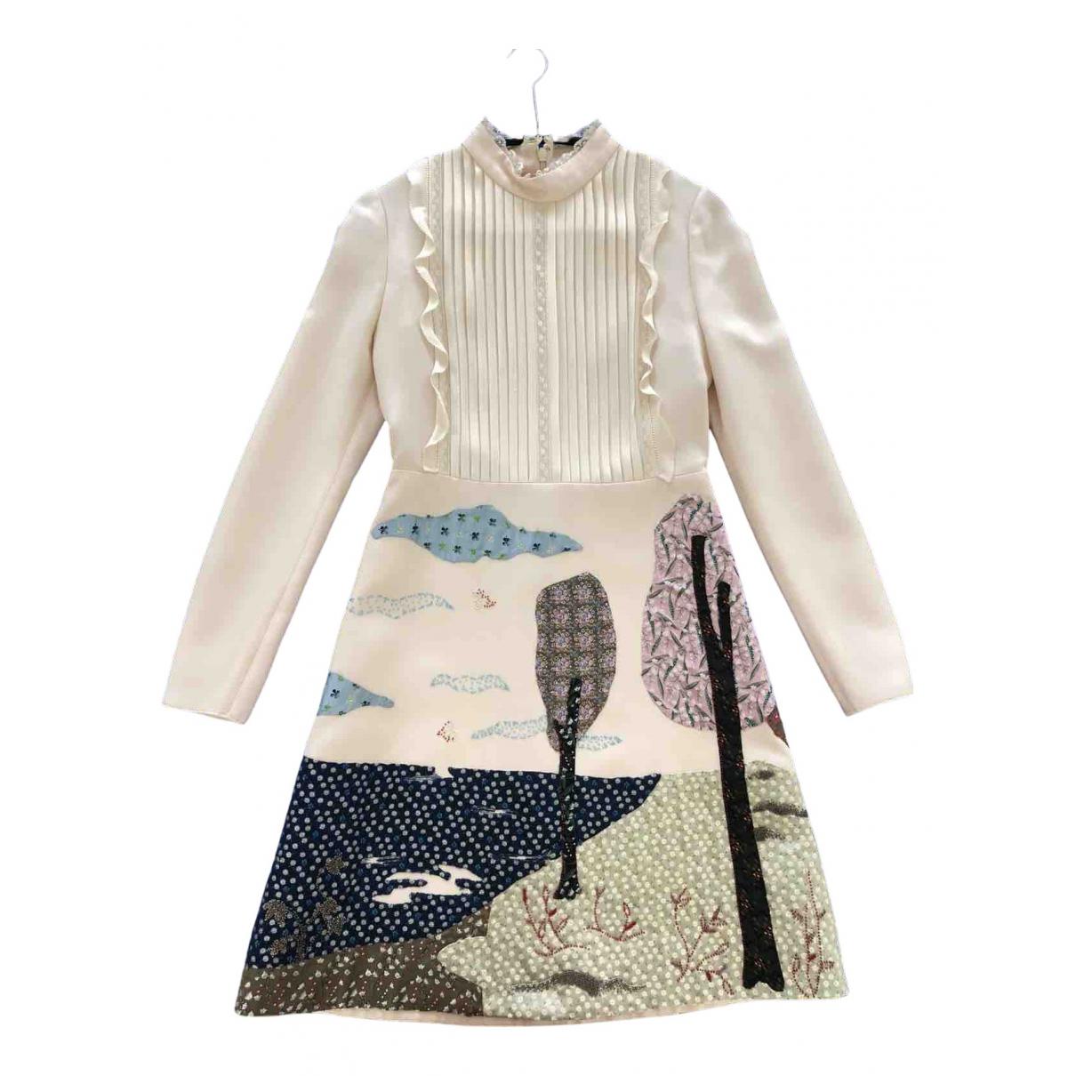 Valentino Garavani \N Kleid in  Beige Wolle