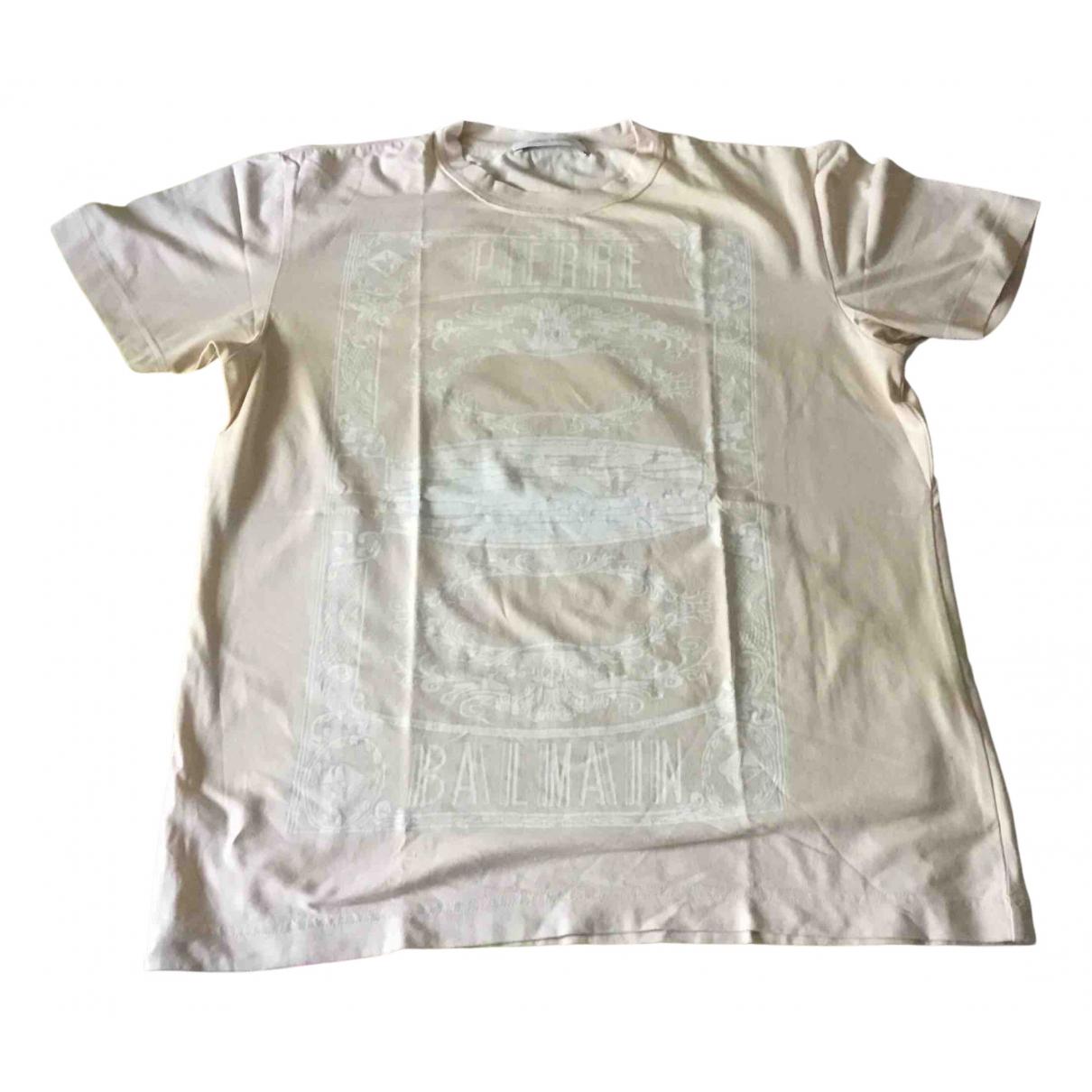 Pierre Balmain - Tee shirts   pour homme en coton - rose