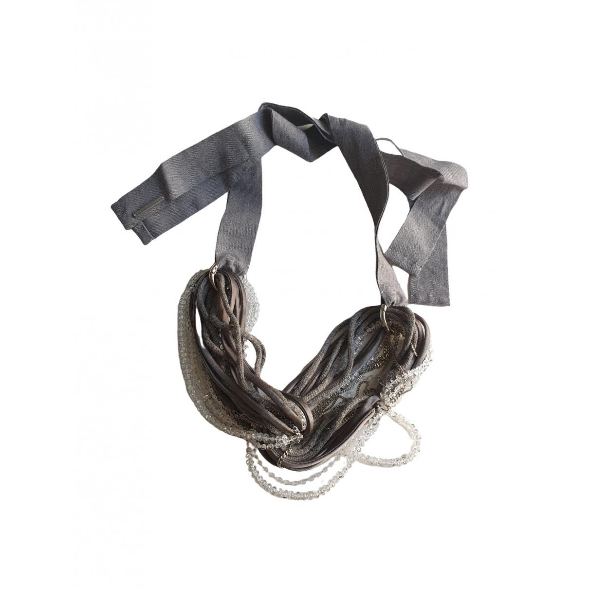 Fabiana Filippi \N Grey Crystal necklace for Women \N