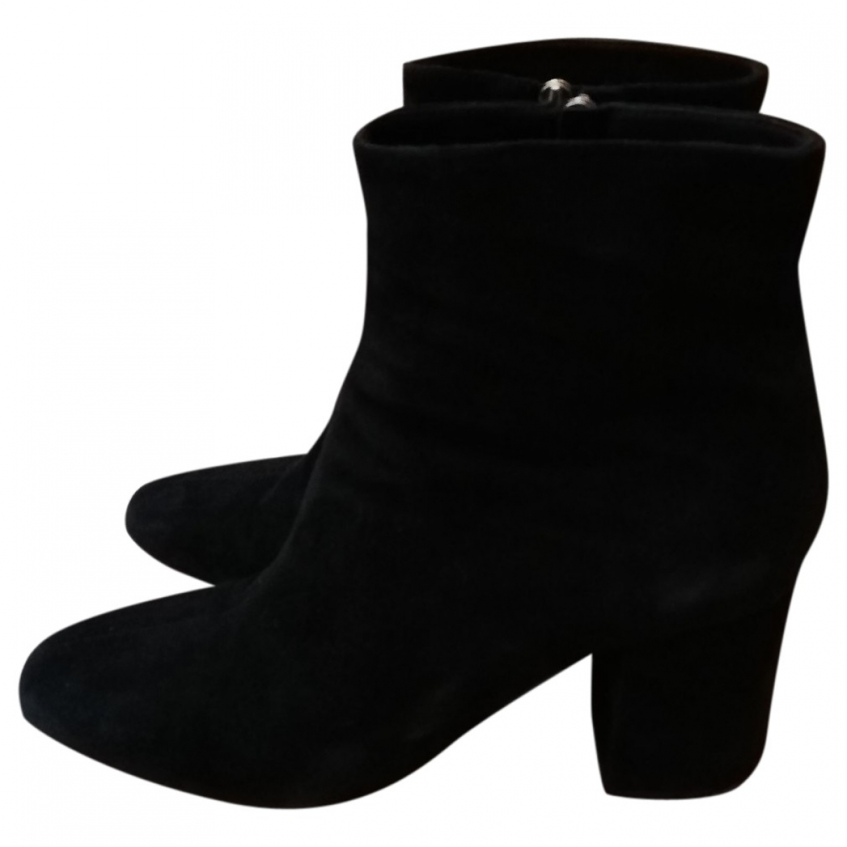 Anine Bing \N Black Suede Ankle boots for Women 38 EU
