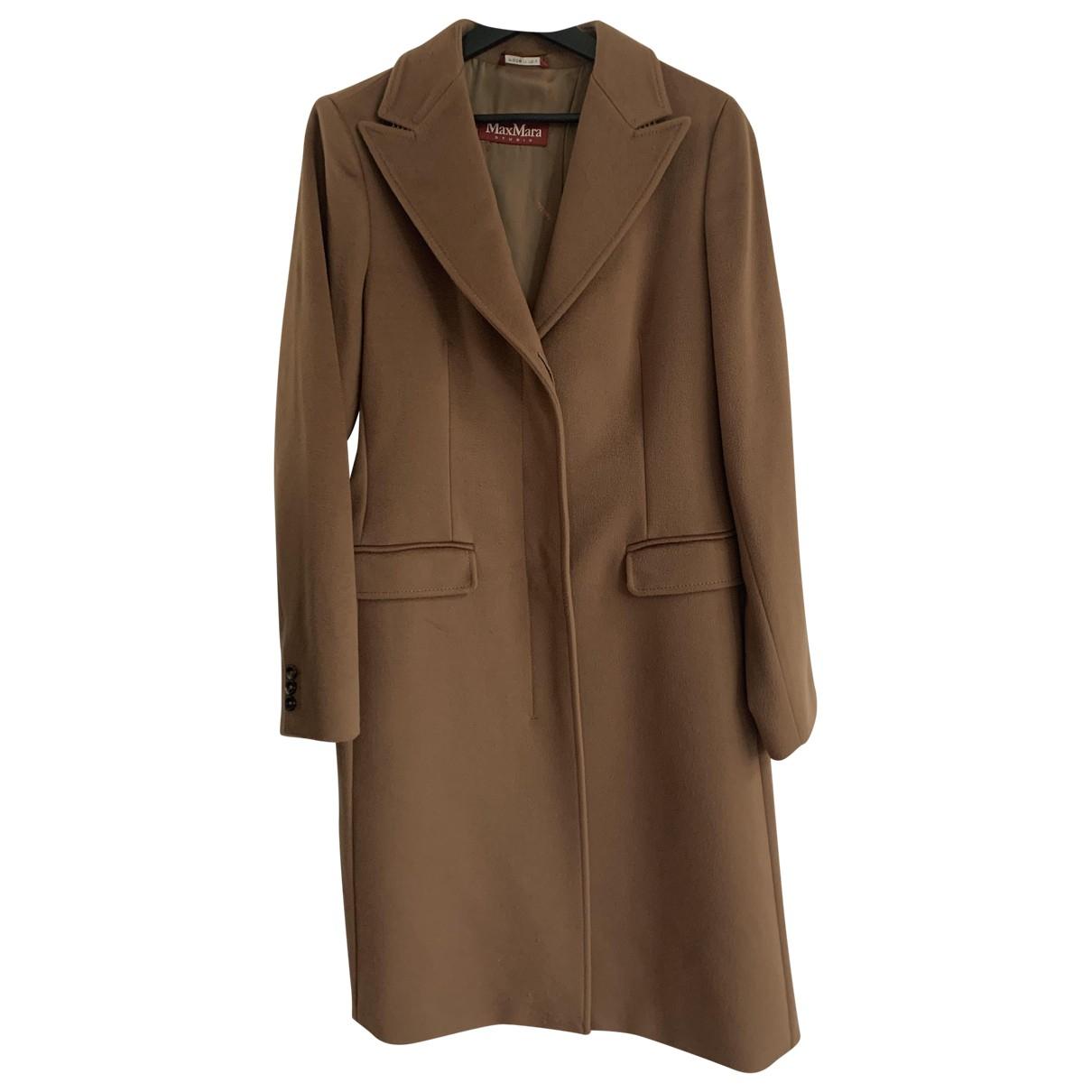 Max Mara Studio - Manteau   pour femme en laine - camel