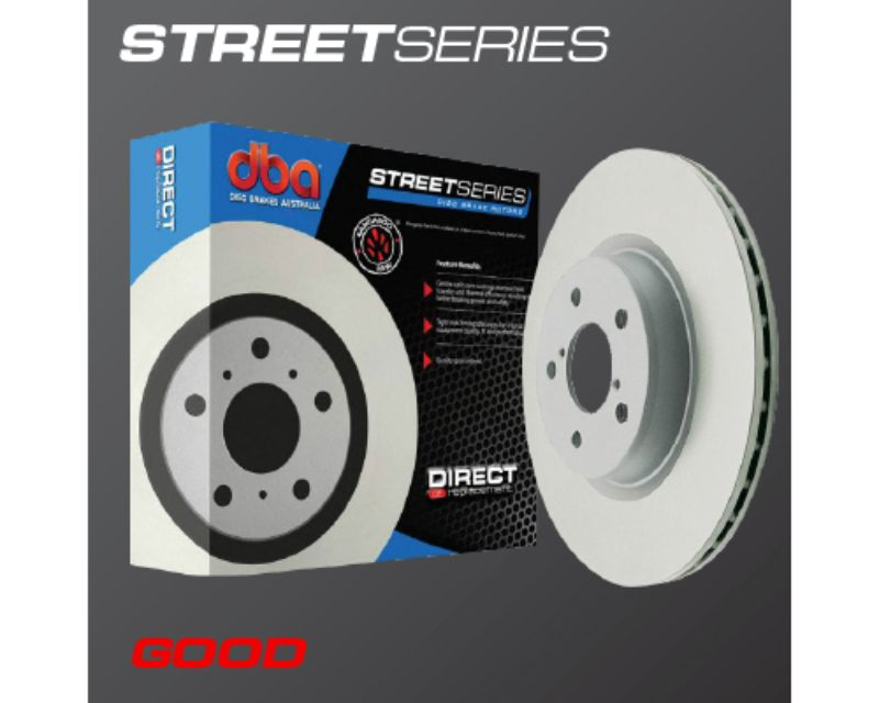 DBA Street Series Rear Cross Drilled & Slotted Rotor Jeep JK Wrangler 07-16