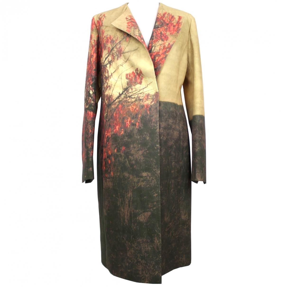 Akris - Manteau   pour femme en laine - multicolore