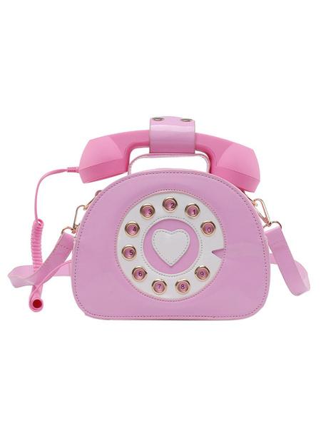 Milanoo Bolso dulce de Lolita Bolso cruzado de cuero PU con forma de telefono