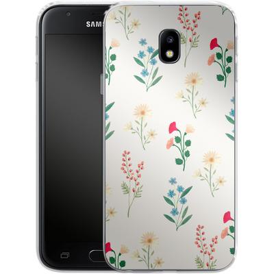 Samsung Galaxy J3 (2017) Silikon Handyhuelle - Leafy Green von Iisa Monttinen