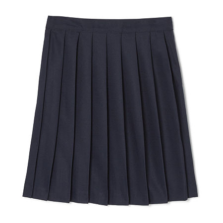 French Toast Little & Big Girls Pleated Skirt, 14.5 Plus , Blue