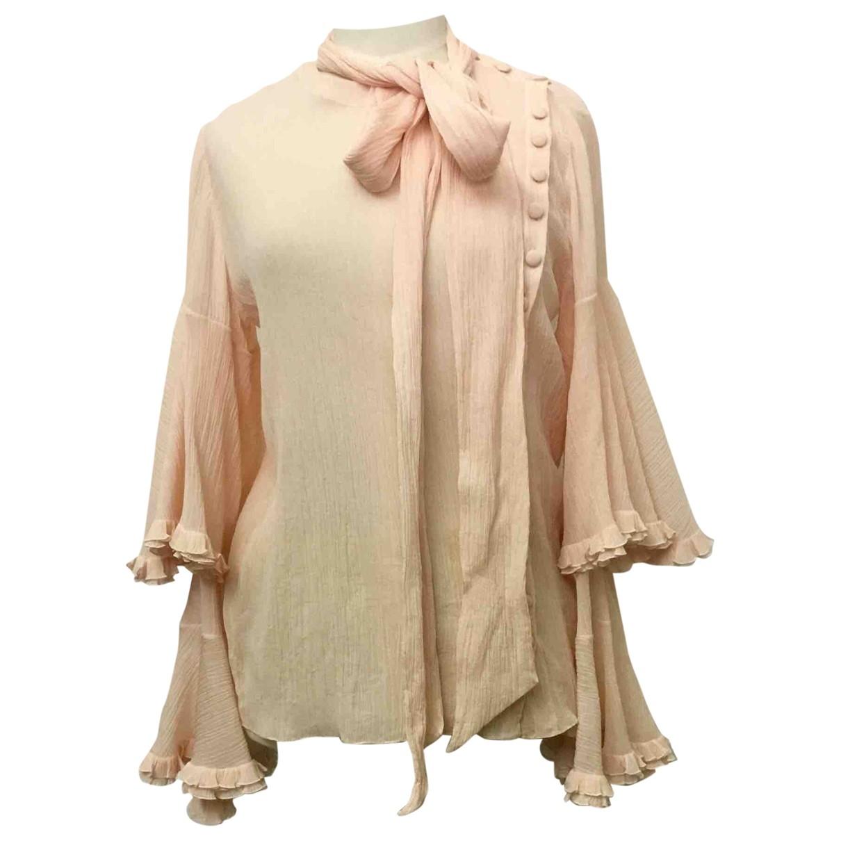 Chloe - Top   pour femme en coton - rose