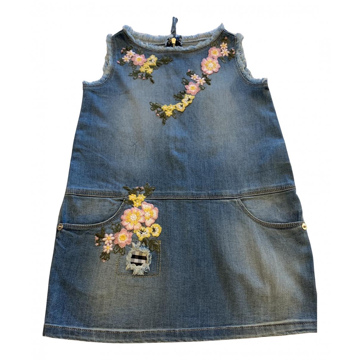 Ermanno Scervino \N Kleid in  Blau Denim - Jeans