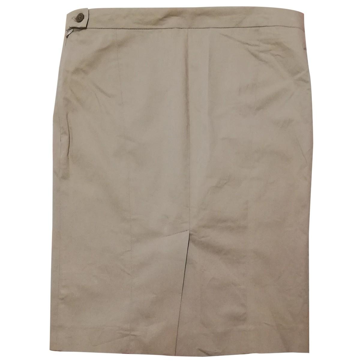 Patrizia Pepe \N Beige Cotton - elasthane skirt for Women 42 IT