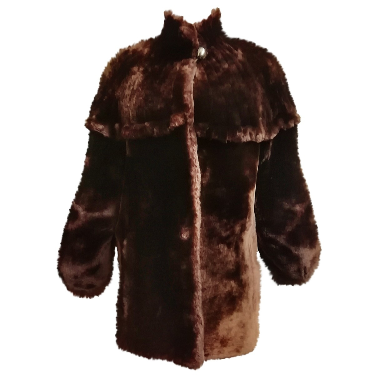 Non Signé / Unsigned \N Brown Beaver coat for Women 42 IT