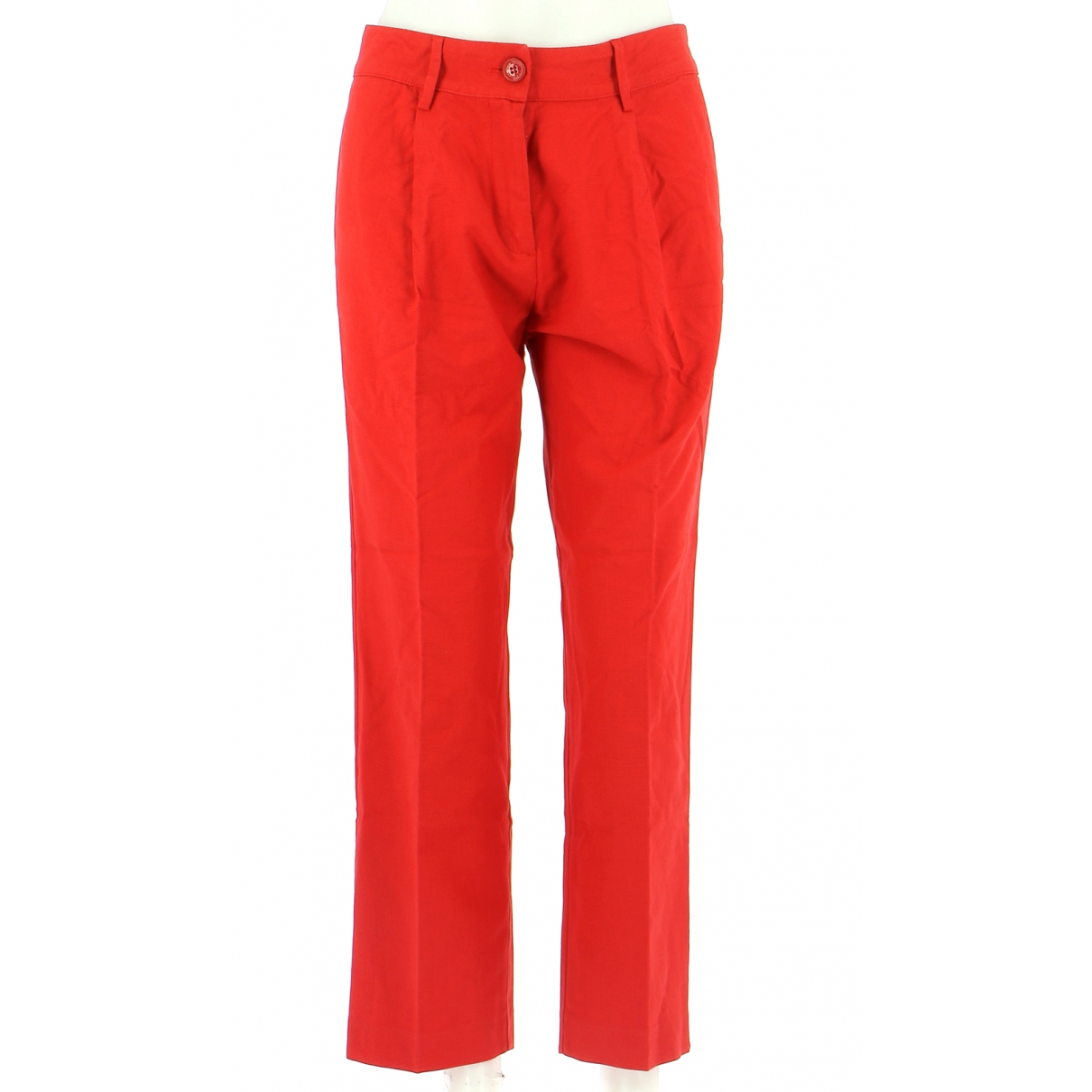 Moschino Love N Red Cotton Trousers for Men 38 FR