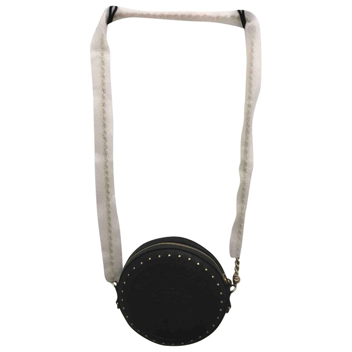Balmain \N Handtasche in  Schwarz Leder