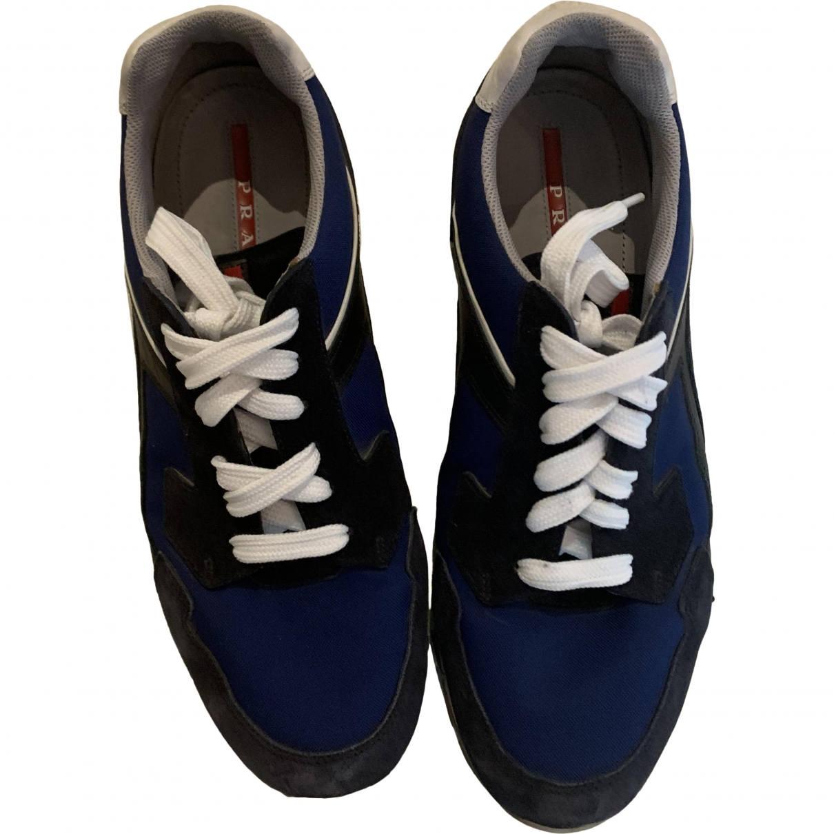 Prada \N Sneakers in  Marine Veloursleder