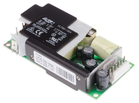 EOS , 60W Embedded Switch Mode Power Supply SMPS, 48V dc, Open Frame