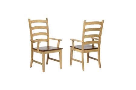 DLU-BR-C80A-PW-2 Brook Ladder Back Dining Arm Chair (Set of