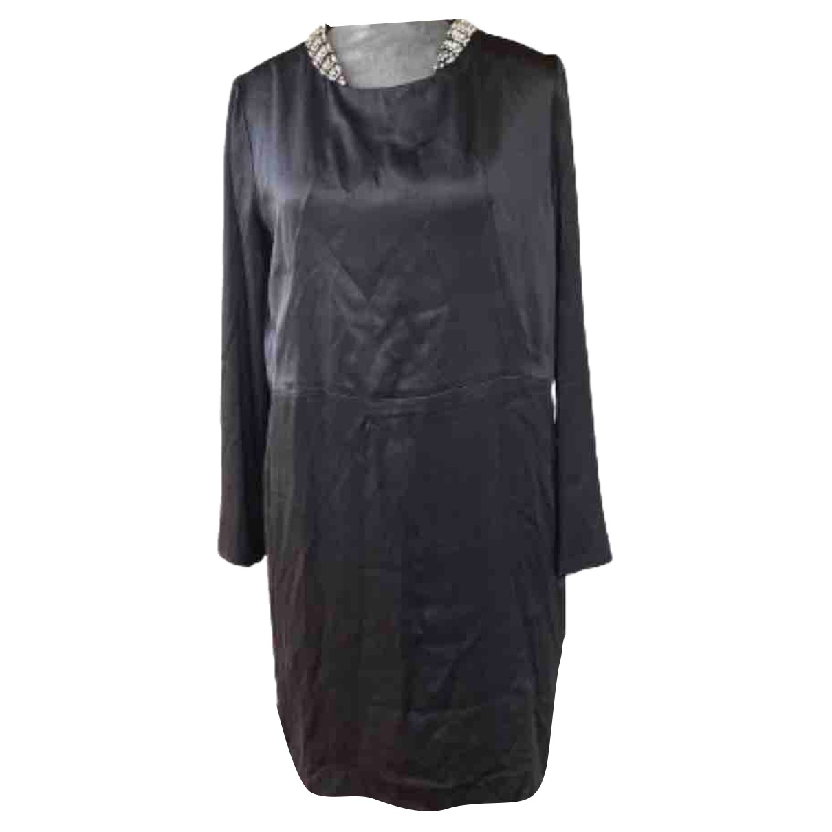 Chloe - Robe   pour femme en soie - gris