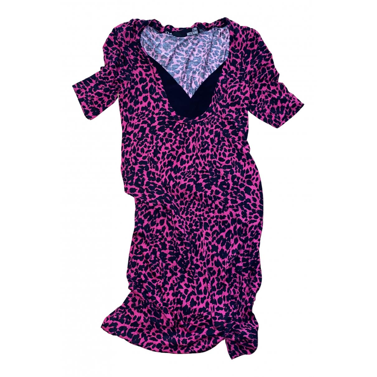 Moschino Love \N Kleid in  Rosa Baumwolle
