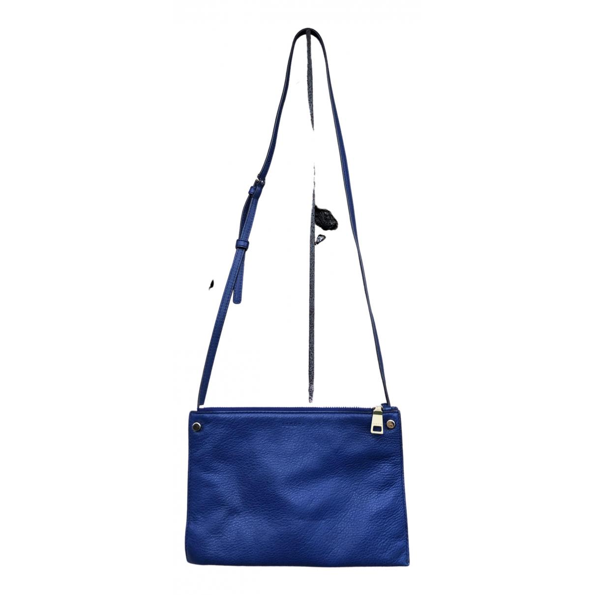 Sandro - Pochette Addict pour femme en cuir - bleu