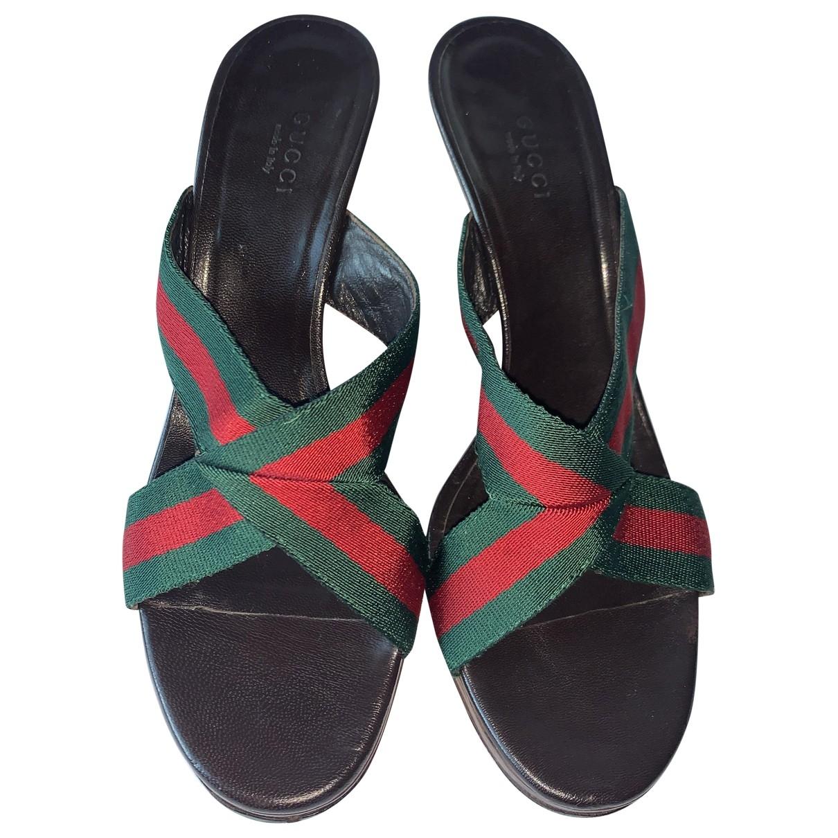 Gucci - Sandales   pour femme en cuir - vert