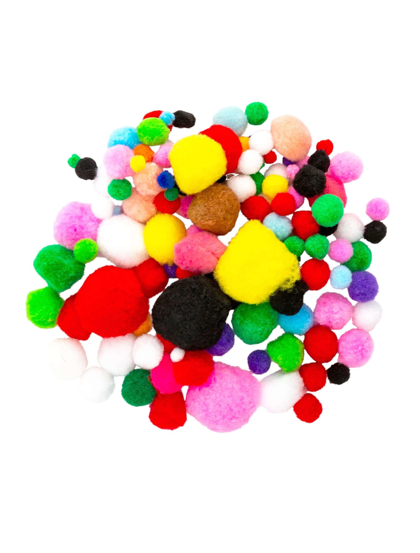 Kostuemzubehor Pompons bunt 200 Stk. Farbe: multicolor bzw. bunt