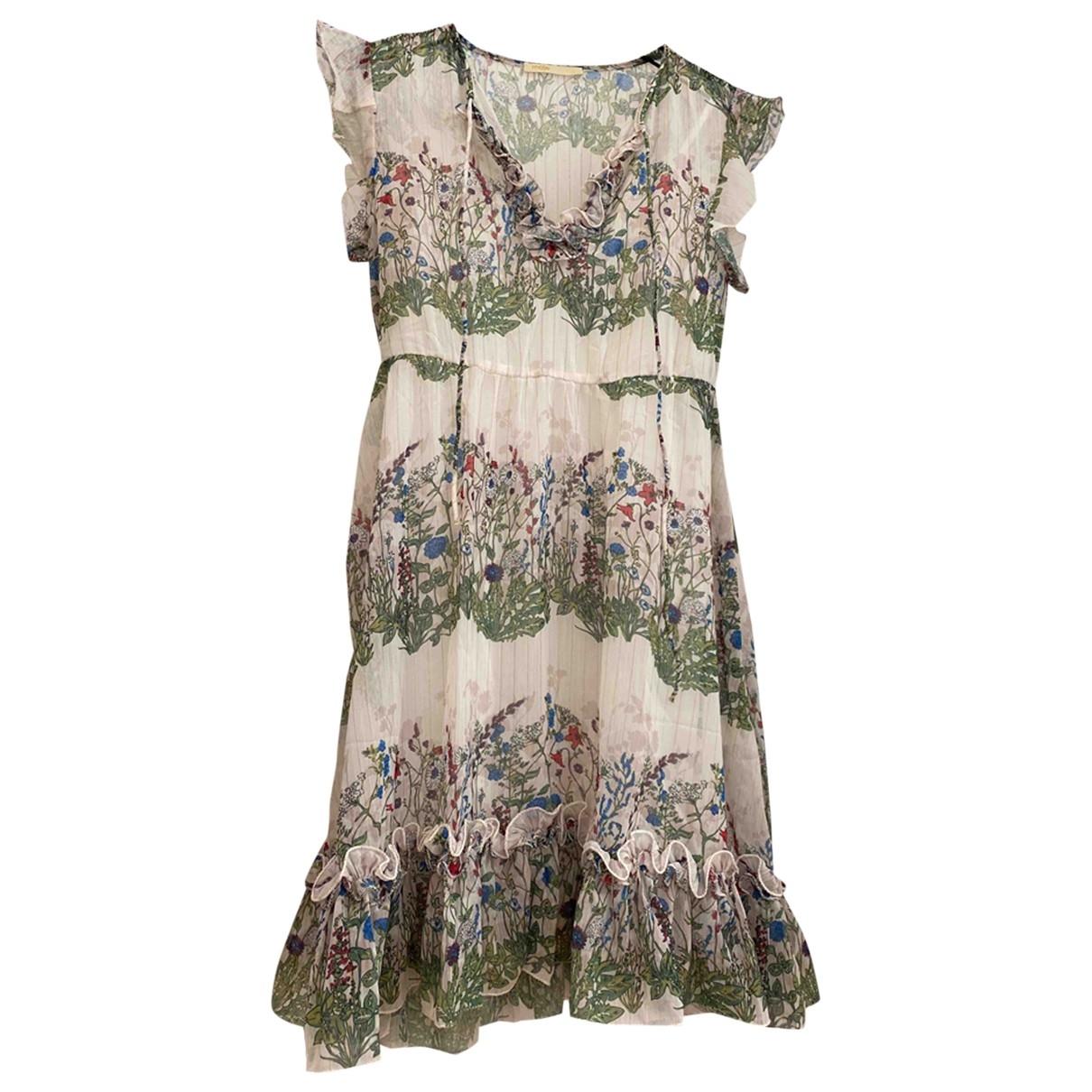 Maje Spring Summer 2020 Kleid in  Ecru Baumwolle