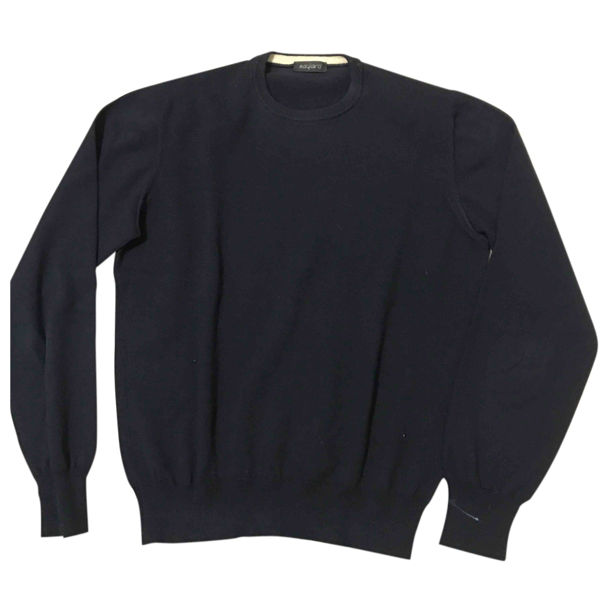 Non Signé / Unsigned N Blue Wool Knitwear & Sweatshirts for Men 54 IT