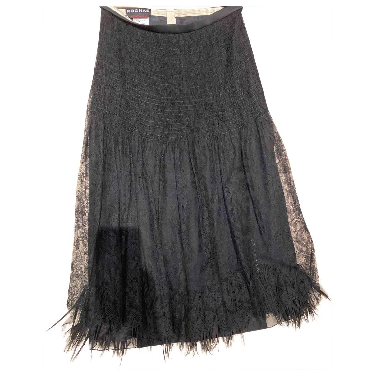 Rochas - Jupe   pour femme en laine - noir