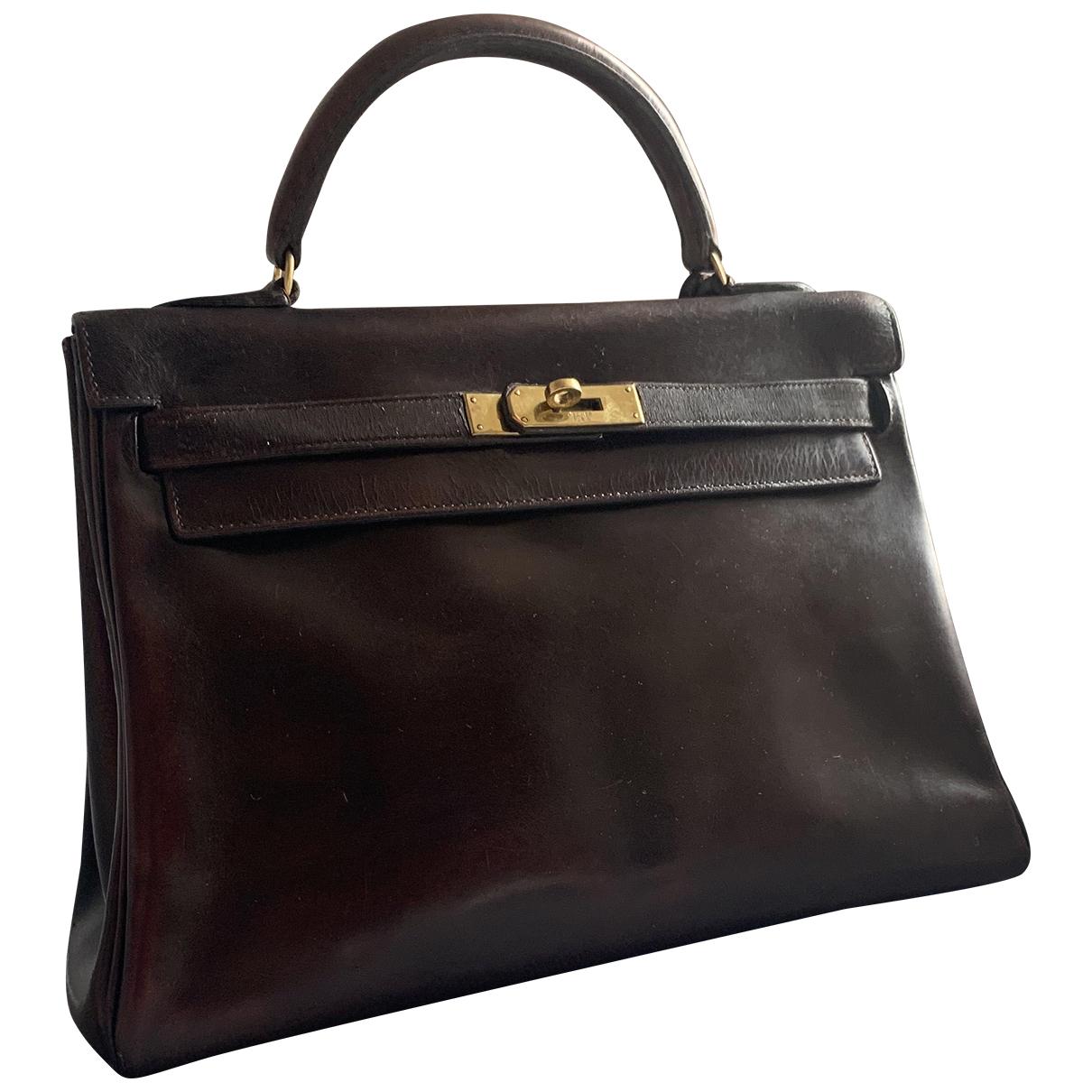 Hermès Kelly 32 Brown Leather handbag for Women N
