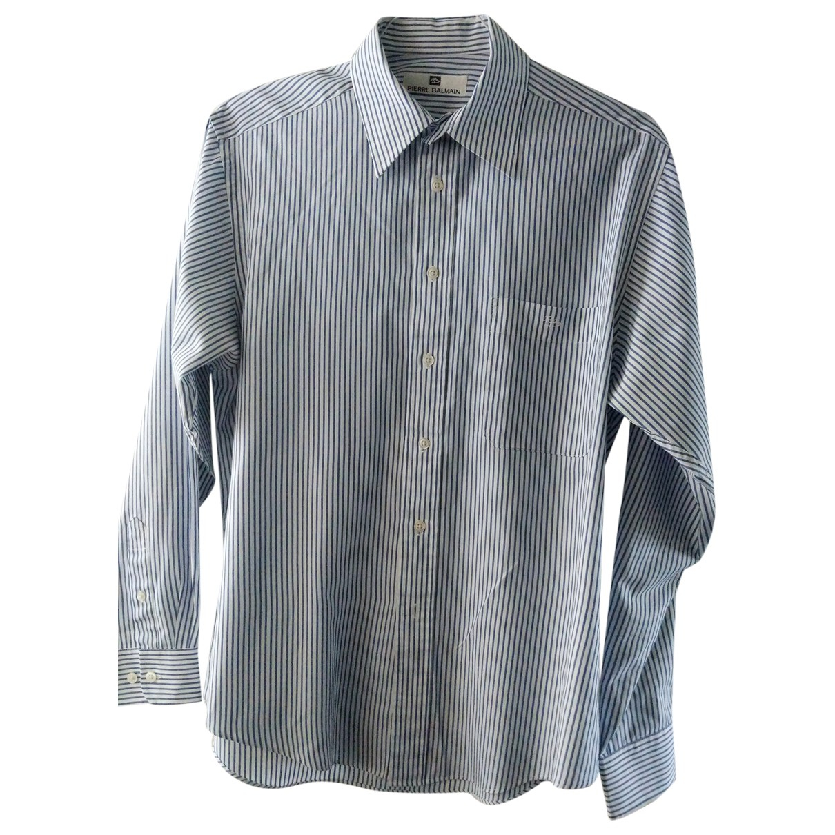 Pierre Balmain \N Blue Cotton Shirts for Men 37 EU (tour de cou / collar)