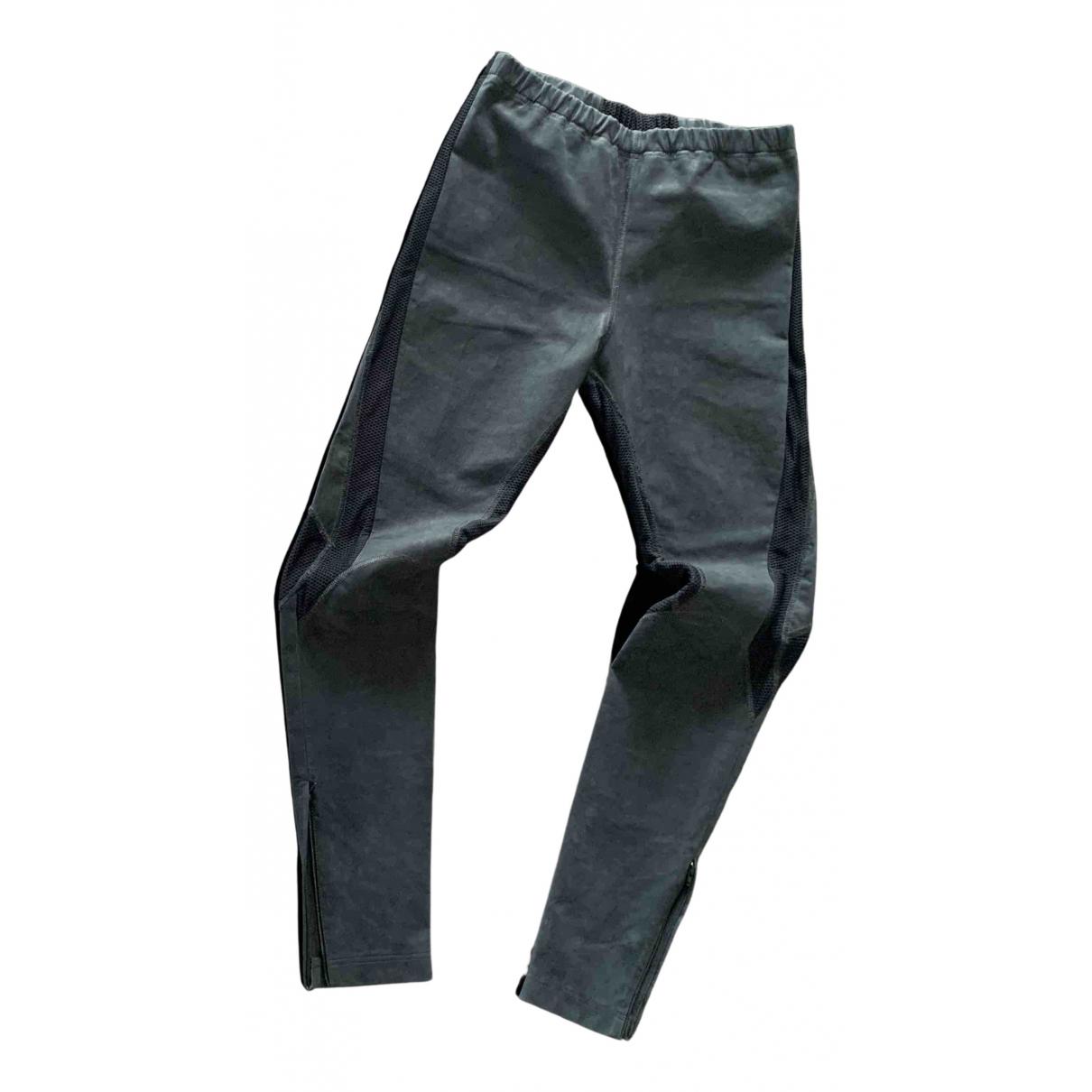 Pantalones en Ante Azul Versace
