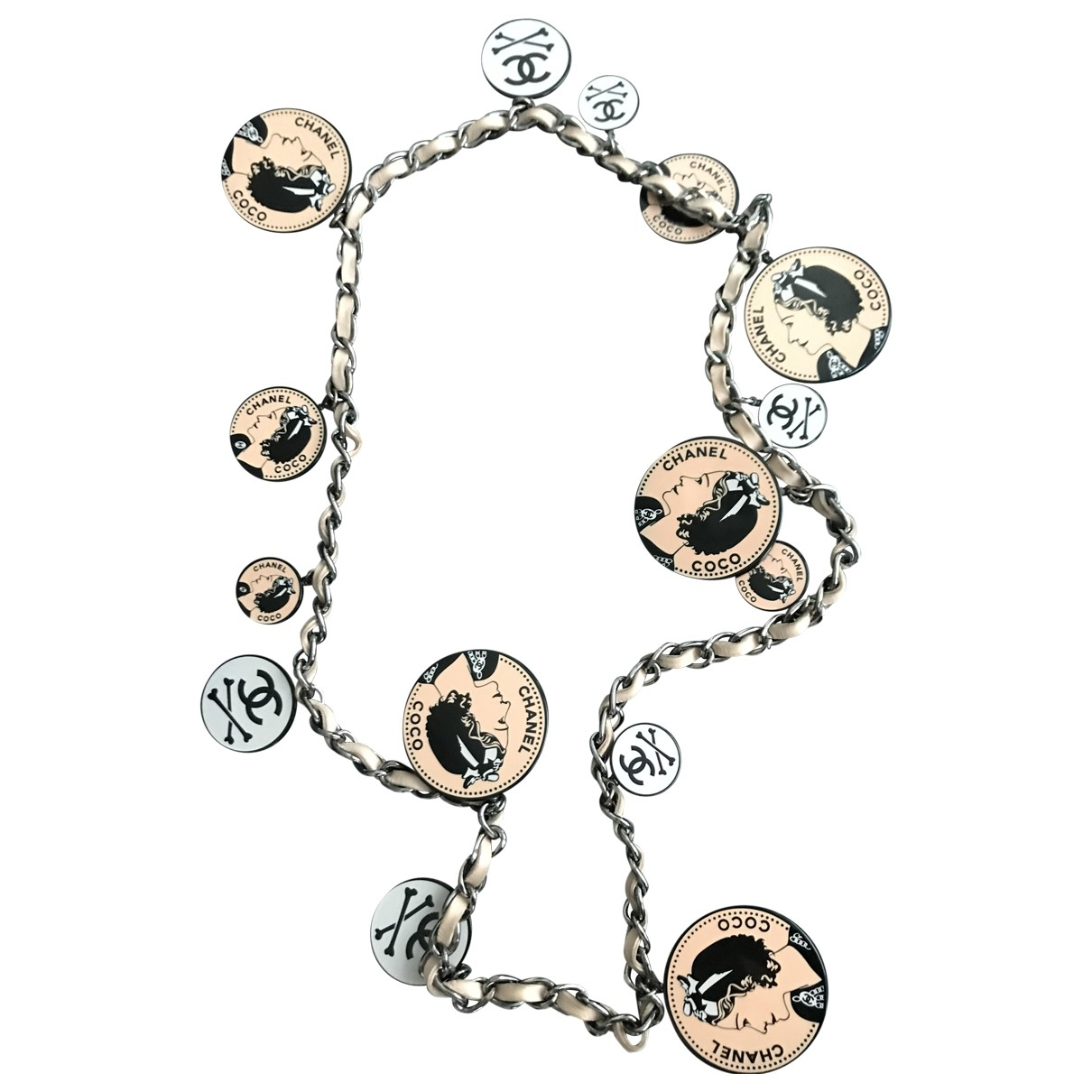 Chanel - Collier CHANEL pour femme en metal - rose