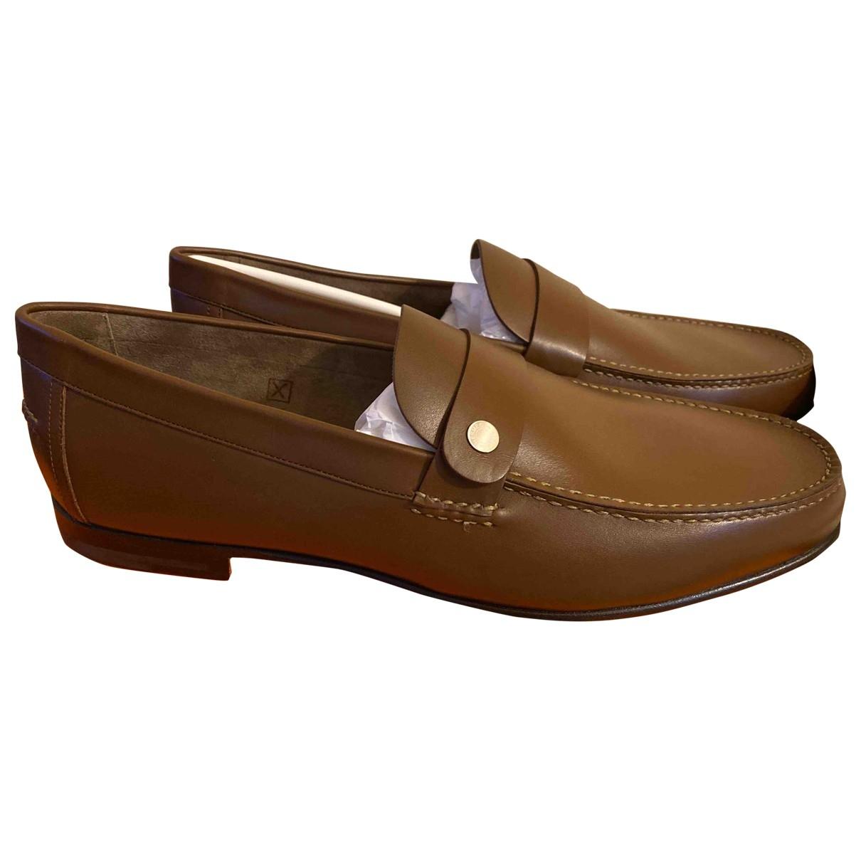 Hermès Odéon Camel Leather Flats for Men 44 EU