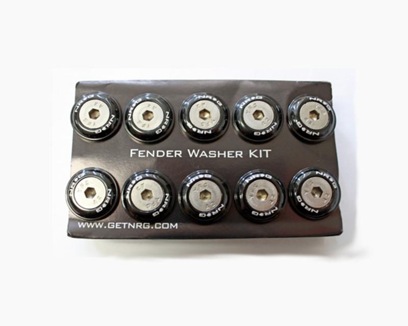 NRG FW-100BK Black Fender Washer Kit with Rivets for Plastic Universal