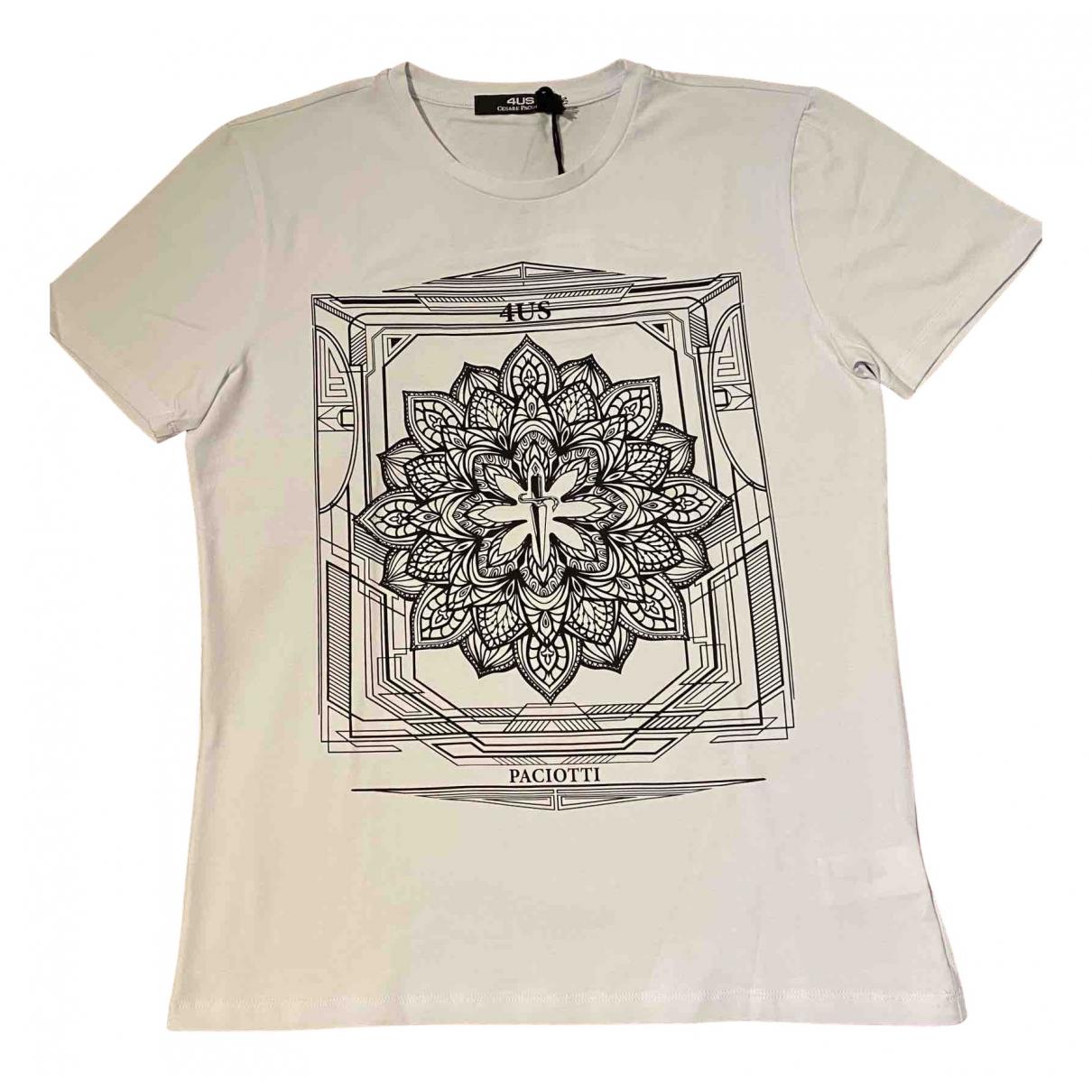 Cesare Paciotti N White Cotton T-shirts for Men L International