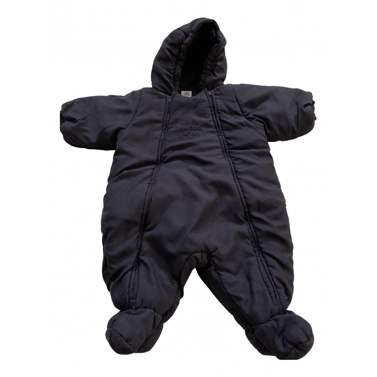 Petit Bateau - Blousons.Manteaux   pour enfant en coton - marine