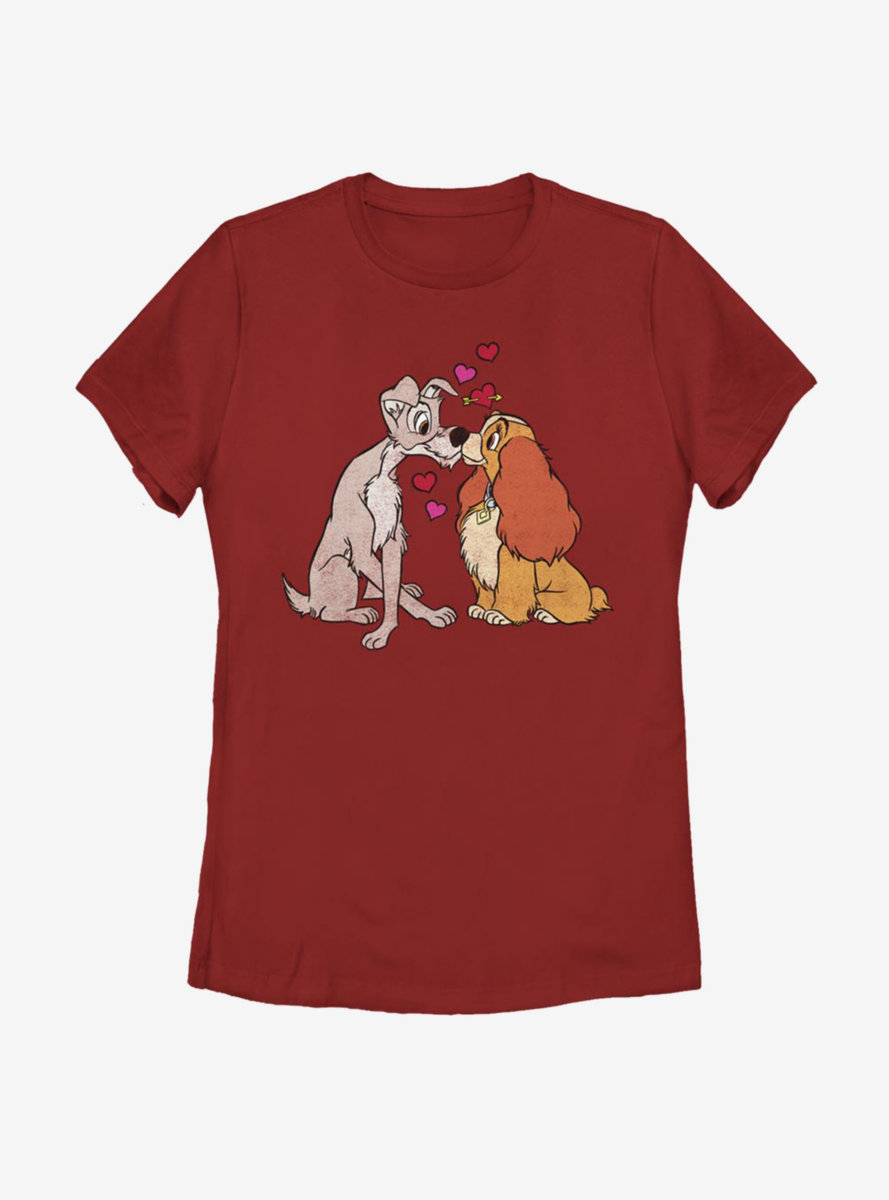 Disney Lady And The Tramp Puppy Love Womens T-Shirt