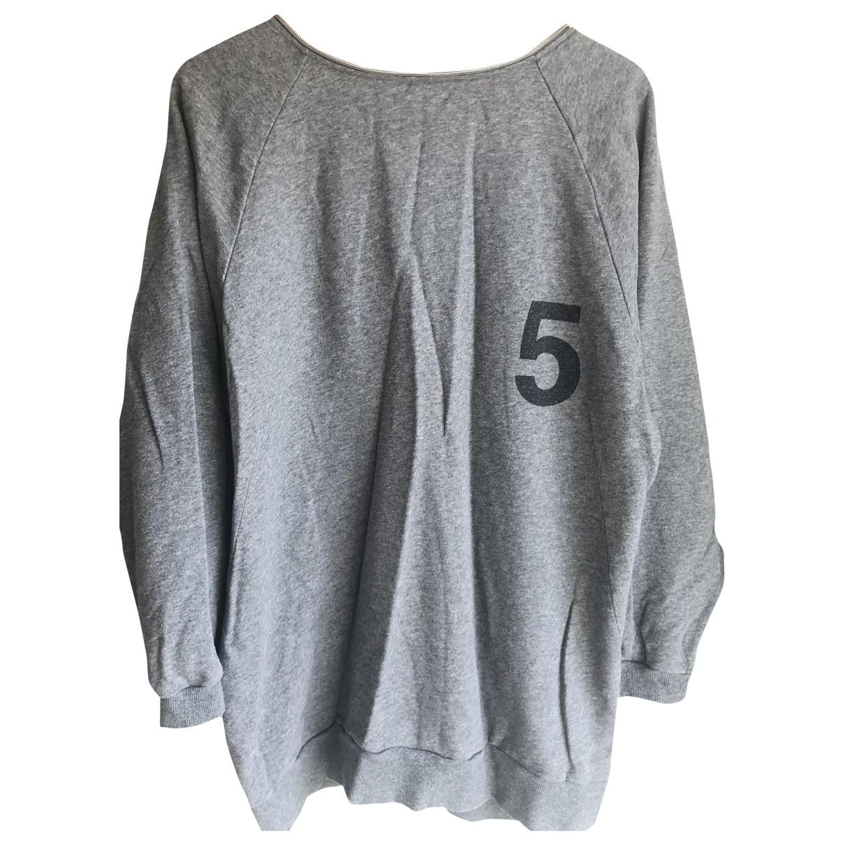 5 Preview \N Pullover in  Grau Baumwolle