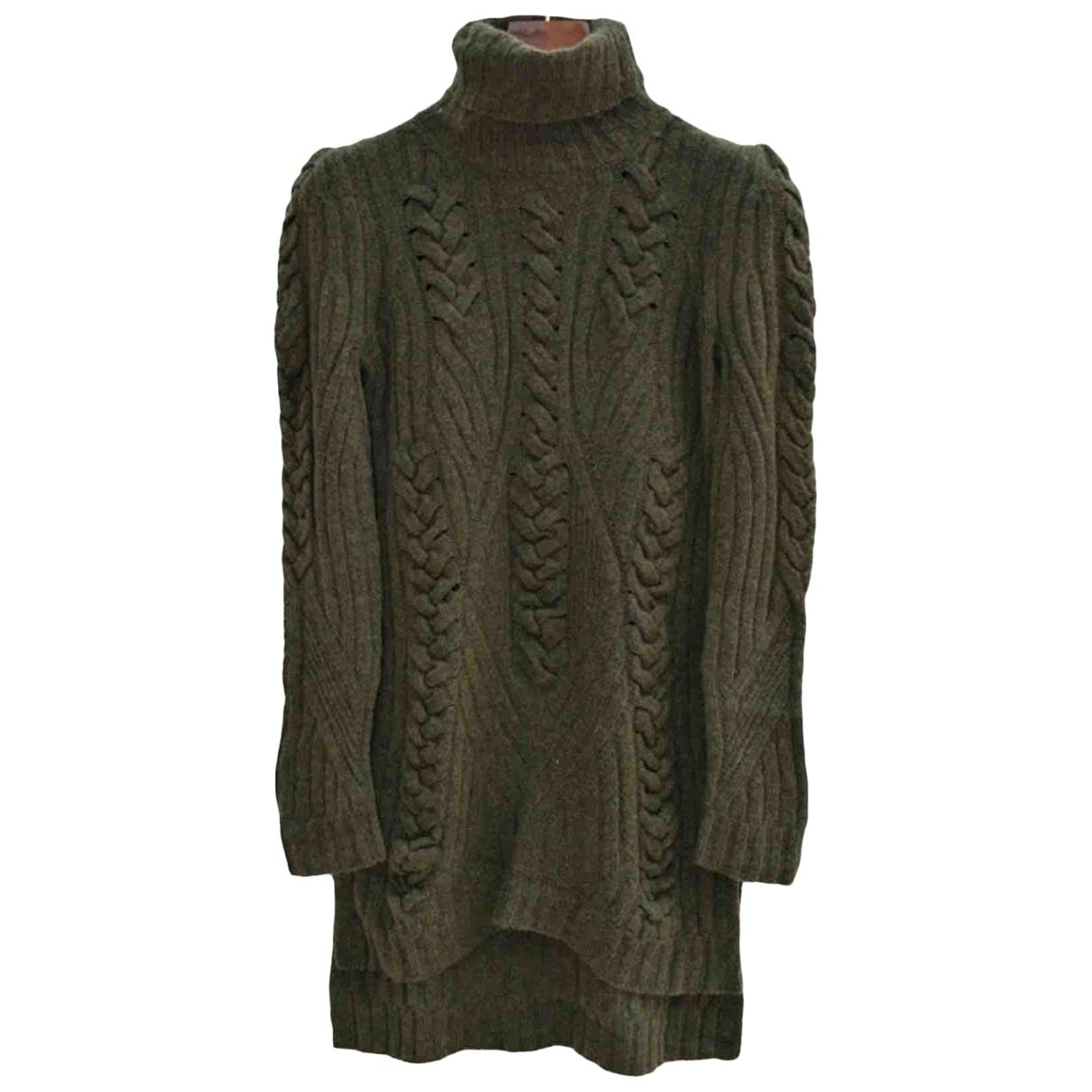 Celine - Robe   pour femme en laine - kaki