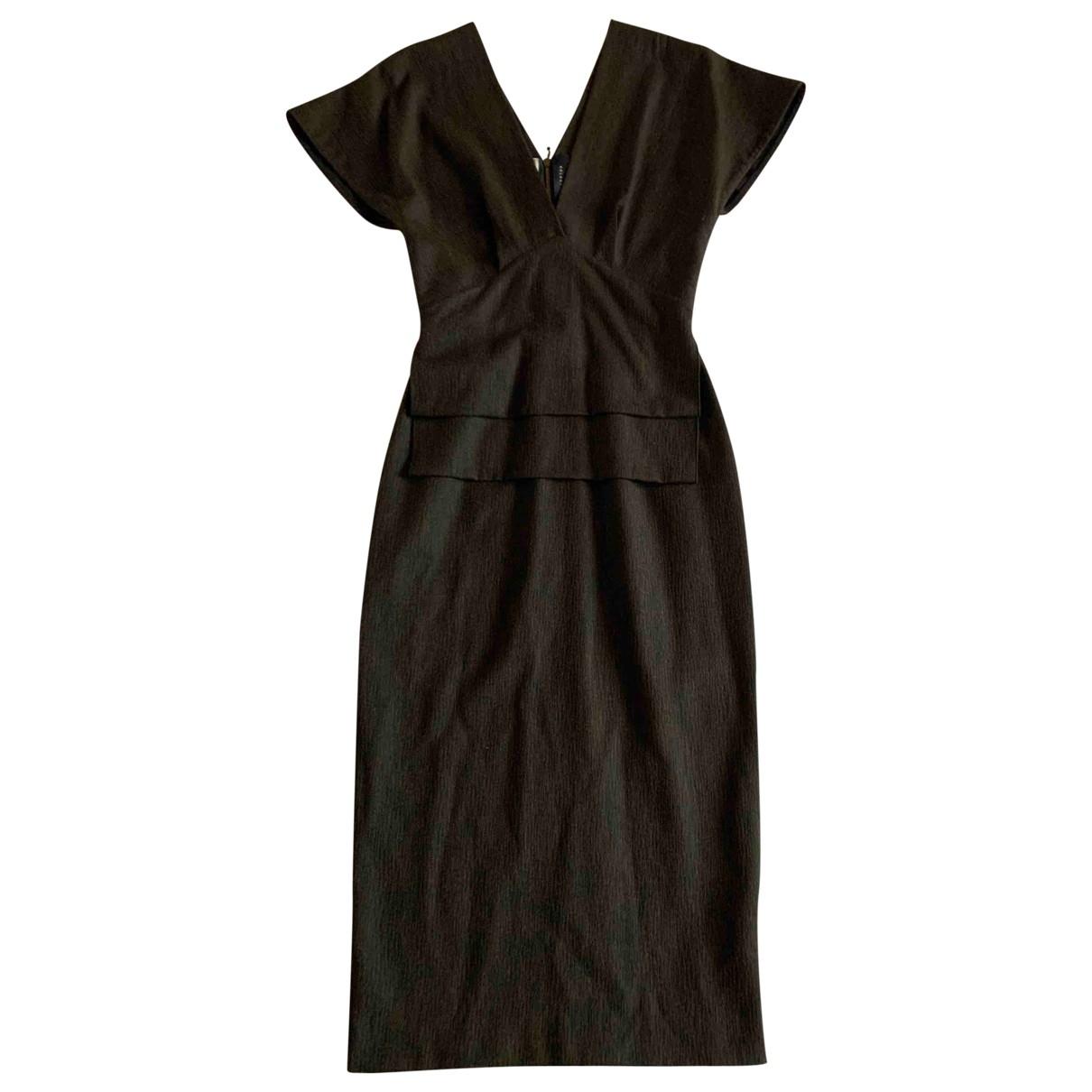 Roland Mouret - Robe   pour femme en laine - kaki