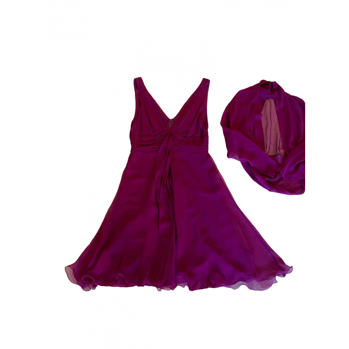 Max Mara - Robe   pour femme en soie - rose